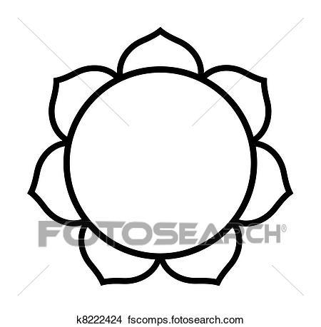 450x459 Drawings Of Buddhist Lotus Flower K8222424