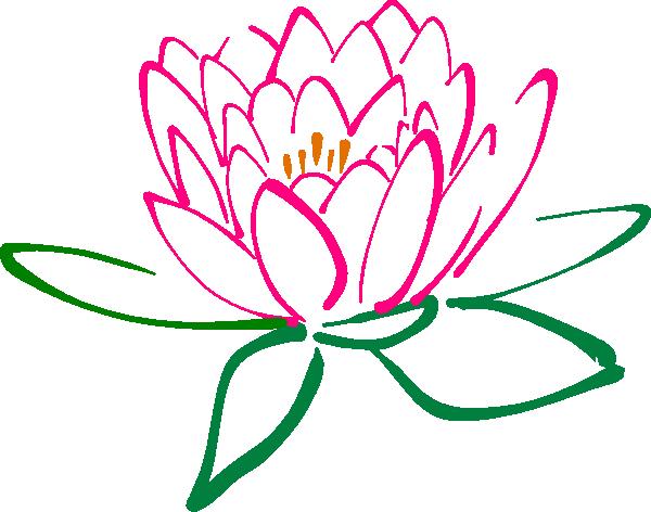 600x472 Pink Lotus Clip Art