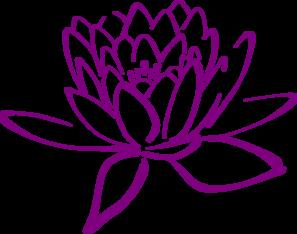 297x234 Purple Clipart Lotus Flower