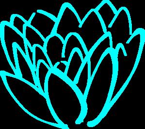 299x267 Blue Lotus Flower Clip Art