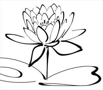 350x306 Calligraphy Clipart Lotus