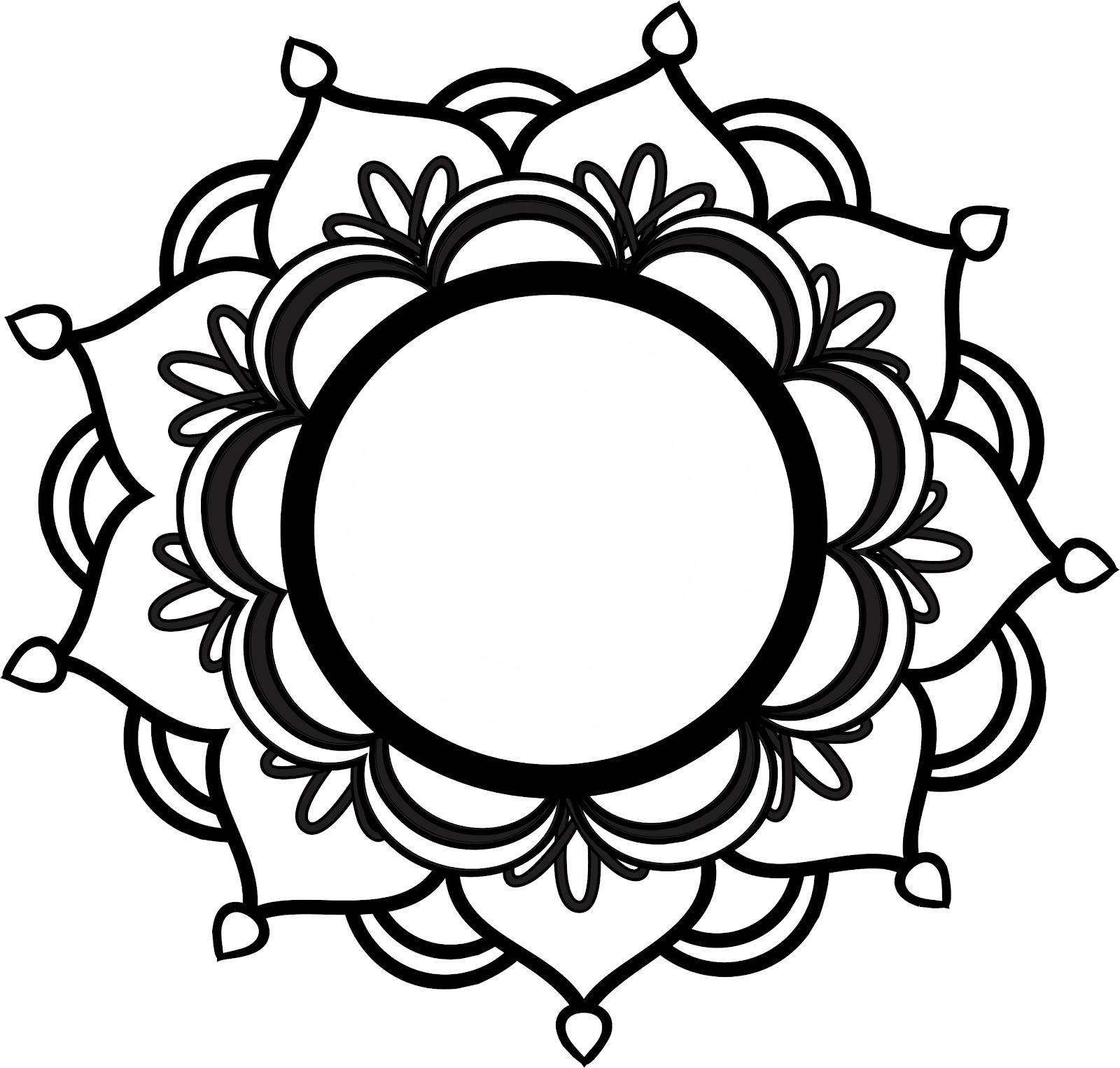 Lotus flower line drawing free download best lotus flower line art and stuff by erica marie lotus mandala izmirmasajfo