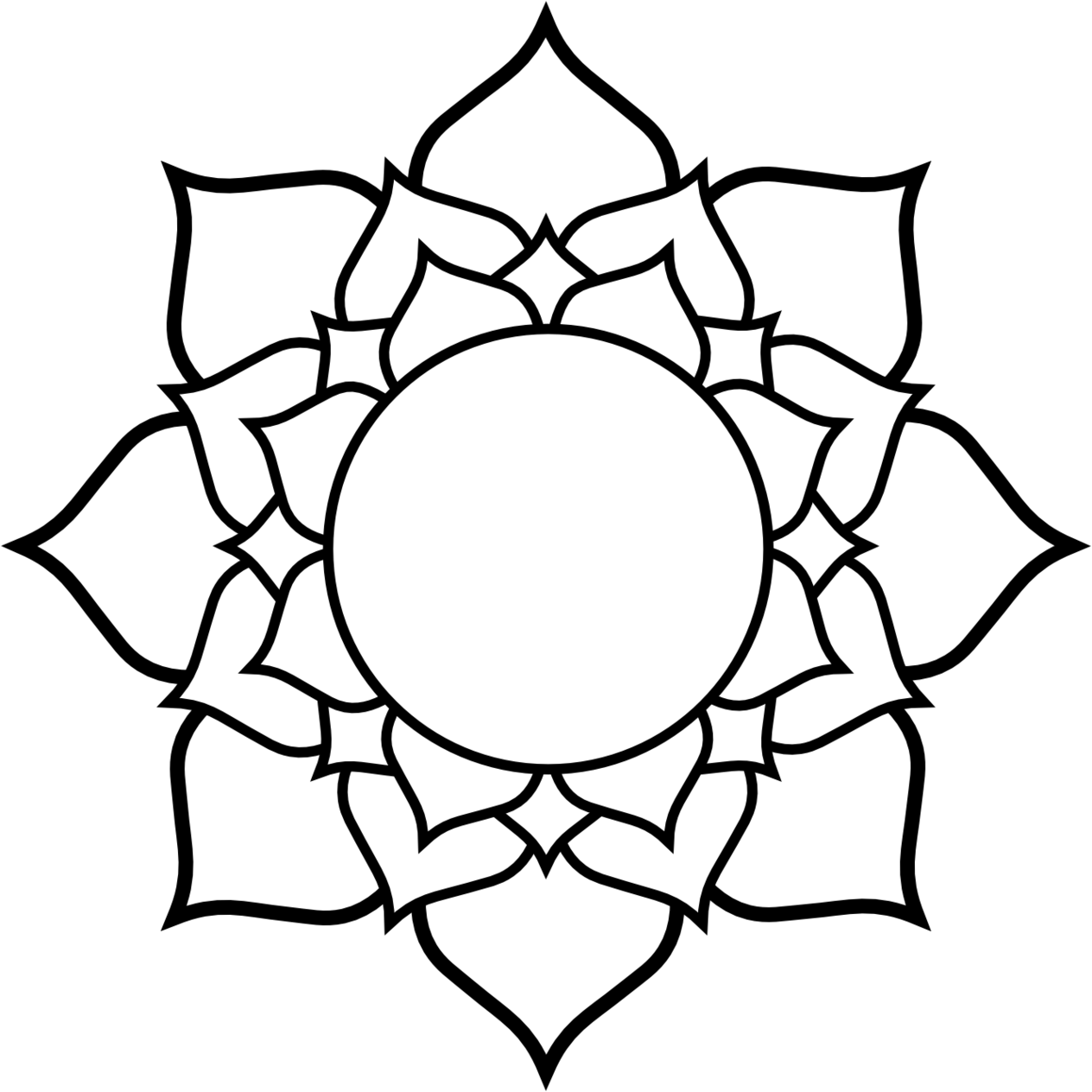Lotus flower line drawing free download best lotus flower line 1264x1264 lotus clipart line drawing mightylinksfo