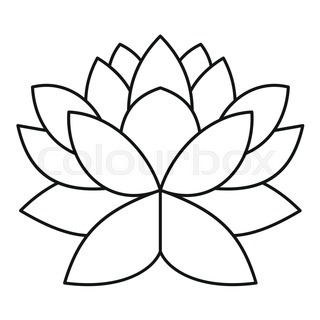 320x320 Lotus Icon. Outline Illustration Of Lotus Vector Icon For Web