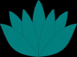 297x219 Aqua Lotus Flower Clip Art