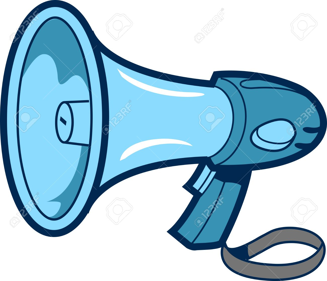 1300x1119 Cartoon Spot Illustration Of A Bullhorn Royalty Free Cliparts