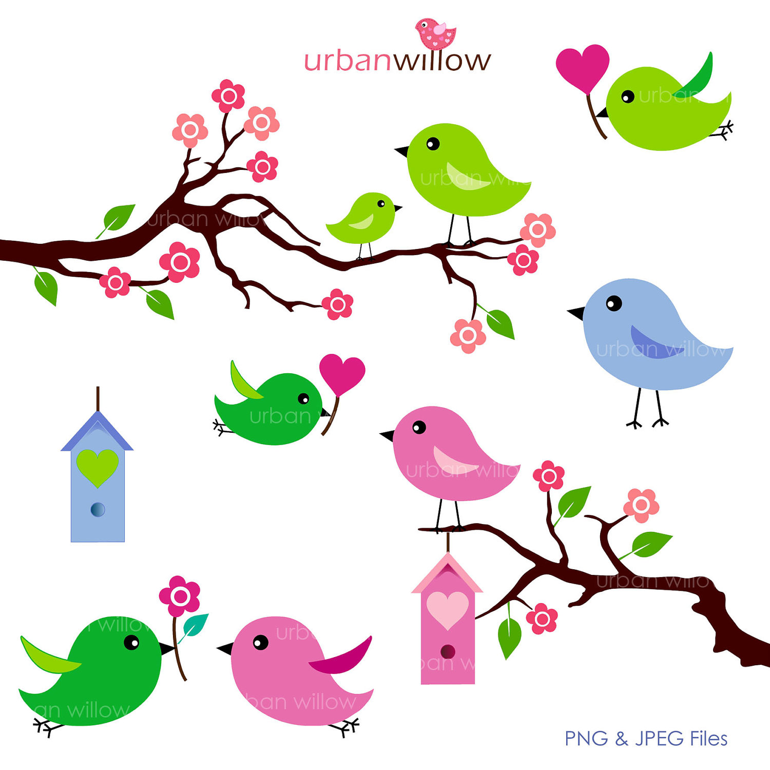 1500x1500 Cute Clipart Love Bird