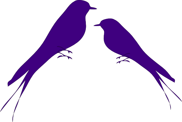 600x403 Love Birds Clip Art