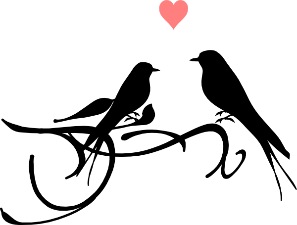 600x455 Love Birds Clipart