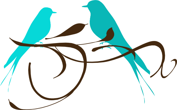 600x373 Love Birds Teal Png, Svg Clip Art For Web
