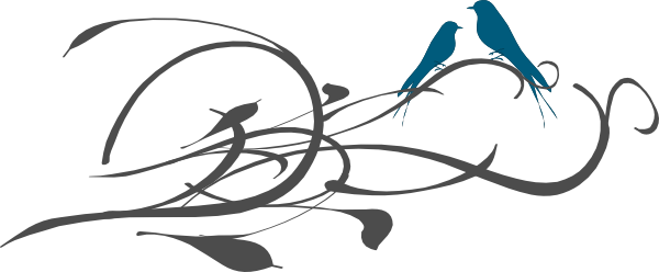 600x248 Bird Clipart Wedding