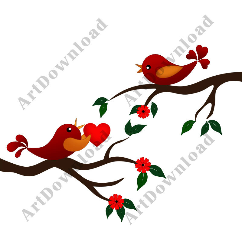 800x800 Vintage Clipart Love Bird