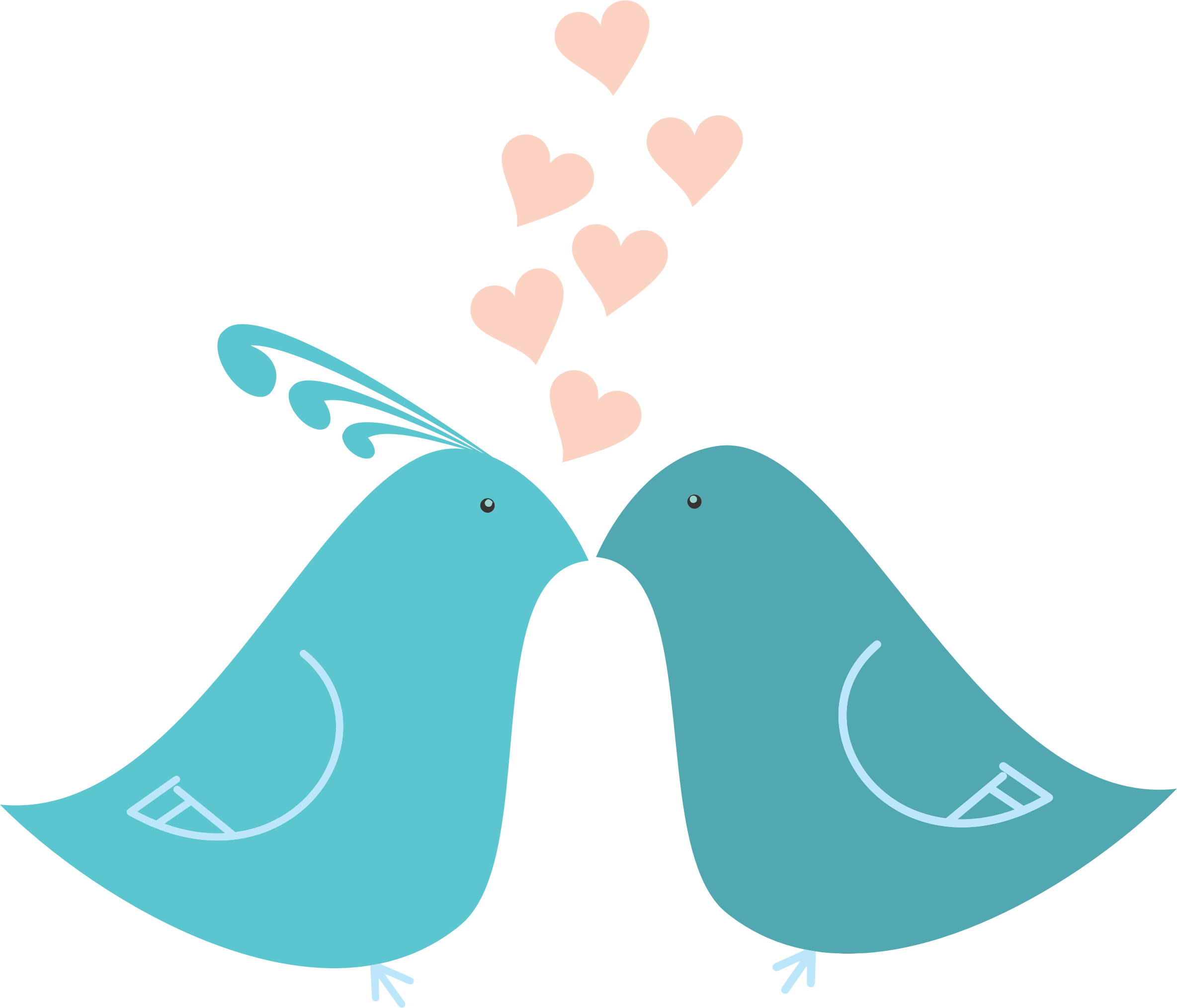 2368x2027 Blue Clipart Love Bird