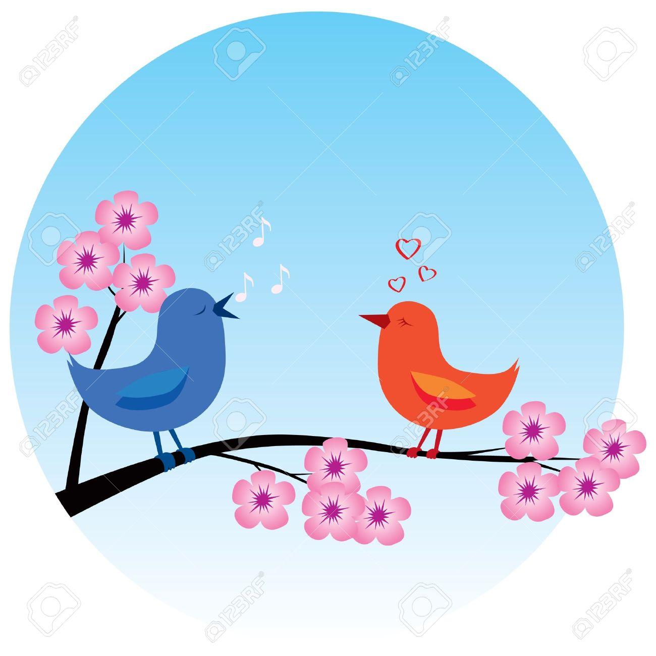1300x1300 Blossom Clipart Spring Bird