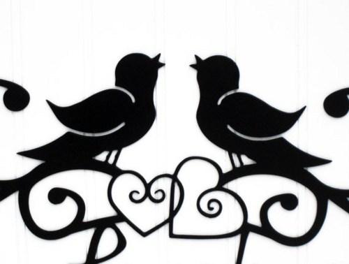 500x378 Love birds silhouette clip art clipart