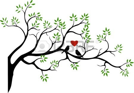 450x311 Tree Silhouette With Bird Flying Royalty Free Cliparts, Vectors