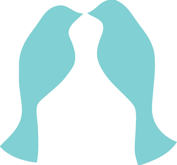 600x560 Turquoise clipart bird silhouette