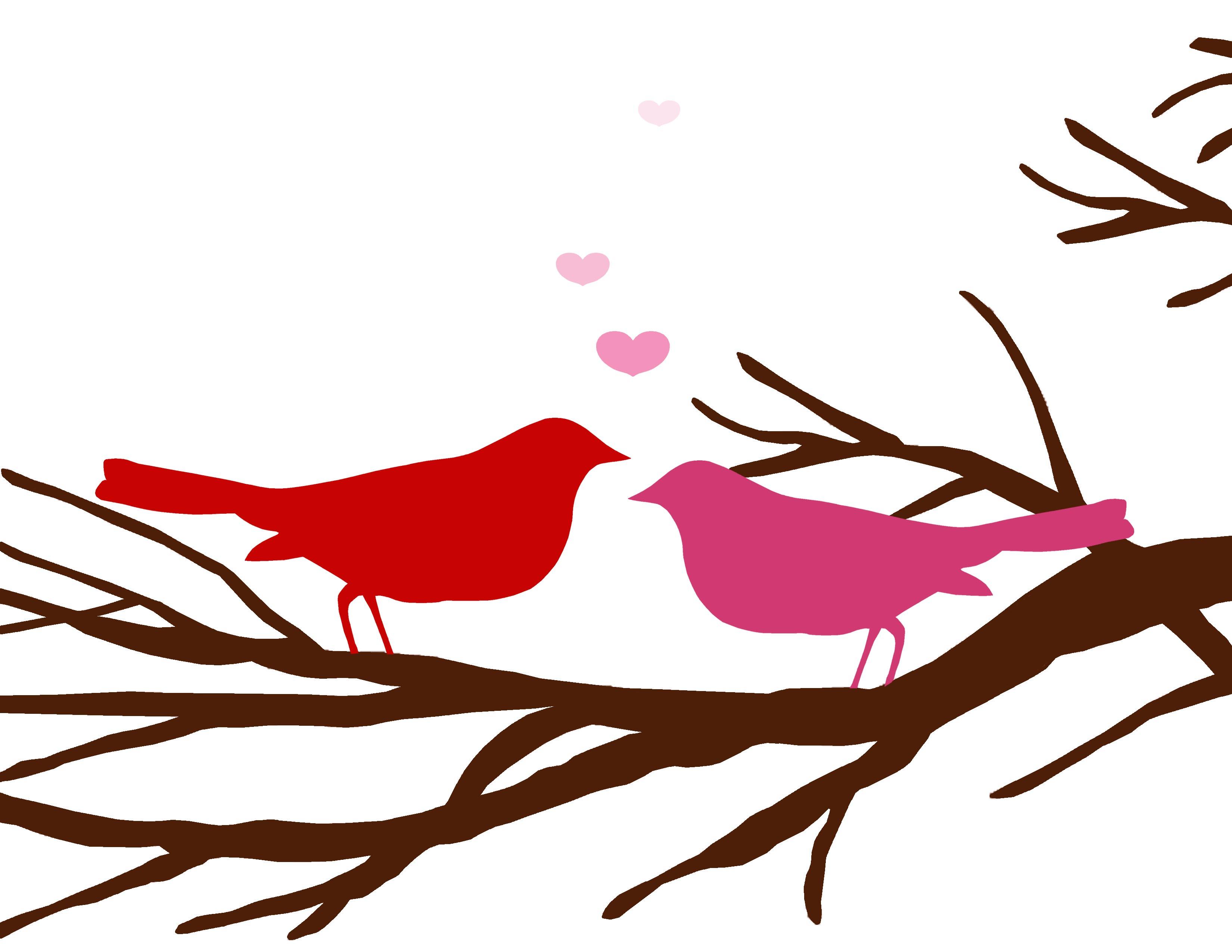 3300x2550 Valentine Bird Clip Art