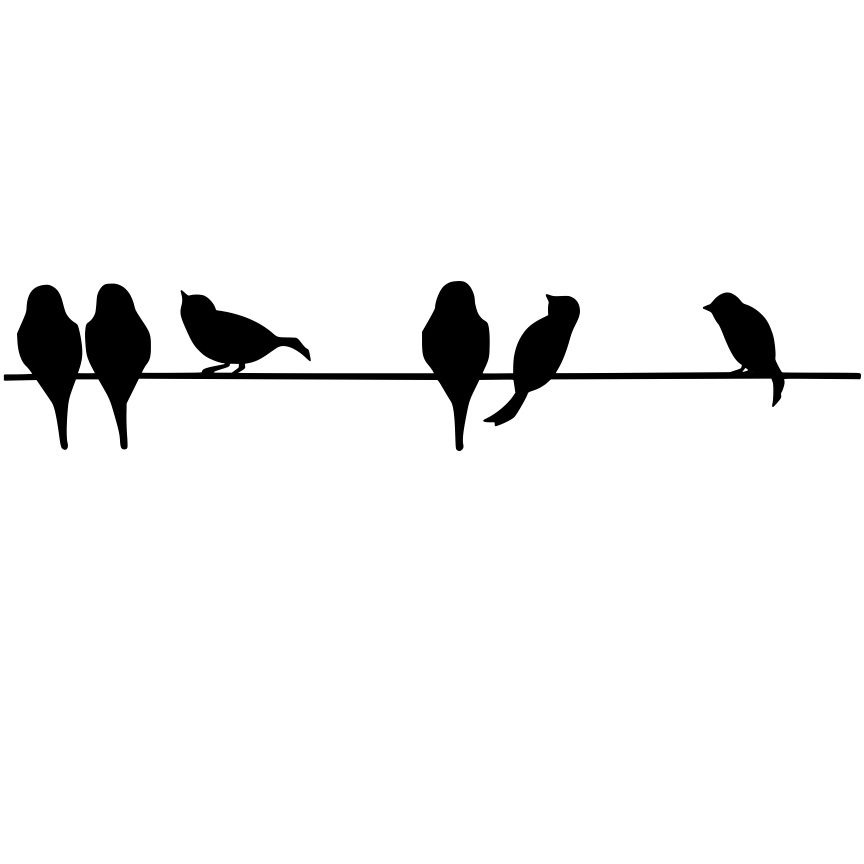 864x864 Best Birds On A Wire Clip Art Pictures Inspiration