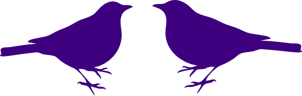 600x192 Bird Silhouette Love Birds Clip Art Silhouette Free Clipart Images