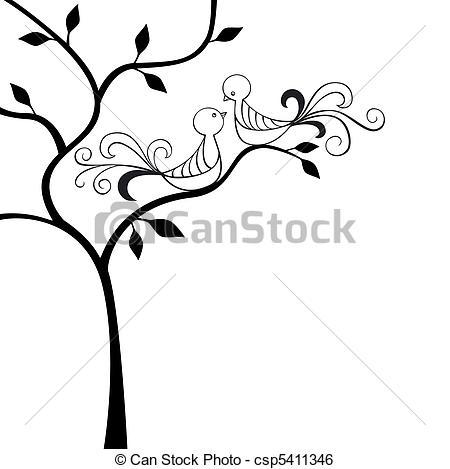 450x469 Drawn Lovebird Clipart