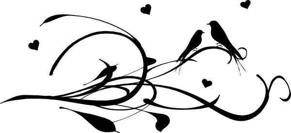 600x275 Free Bird Silhouette Clip Art
