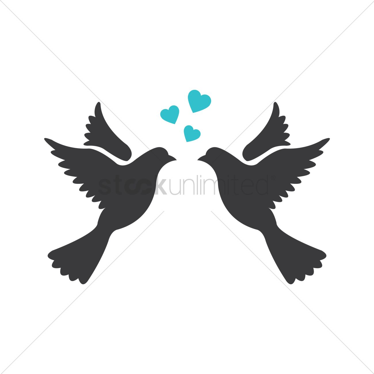 1300x1300 Love Birds Vector Image
