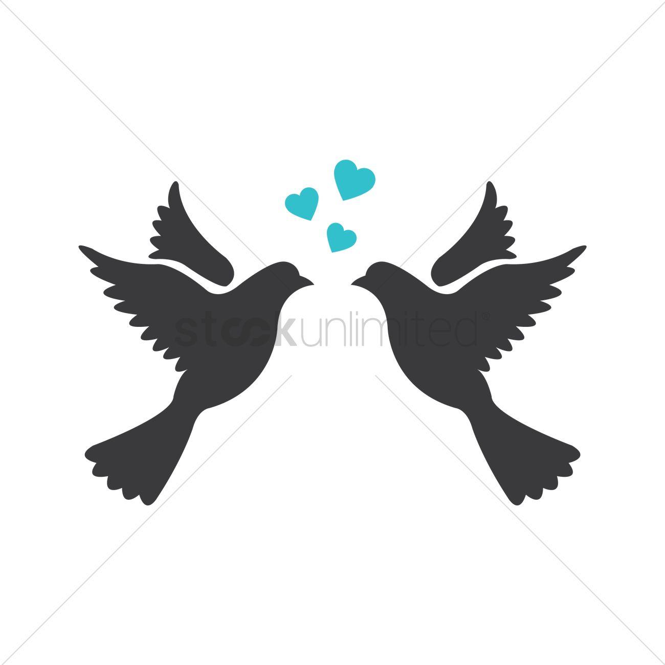 1300x1300 Love Birds Vector Image