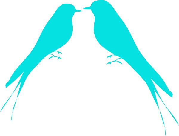 600x455 Turquoise Clipart Bird Silhouette