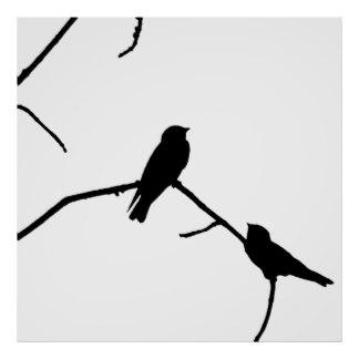 324x324 Bird Silhouette Posters Zazzle