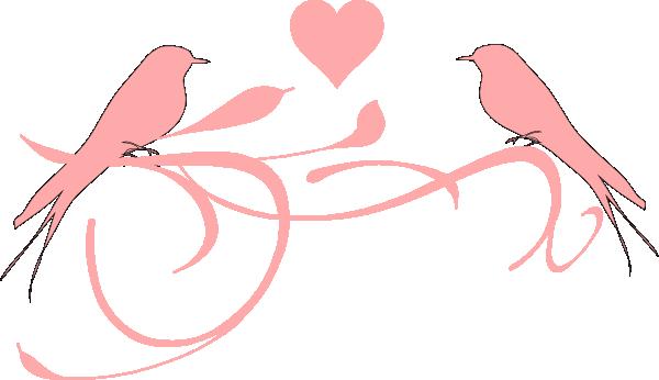 600x346 Love Birds Clip Art