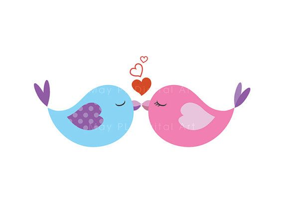 570x407 Purple clipart love bird