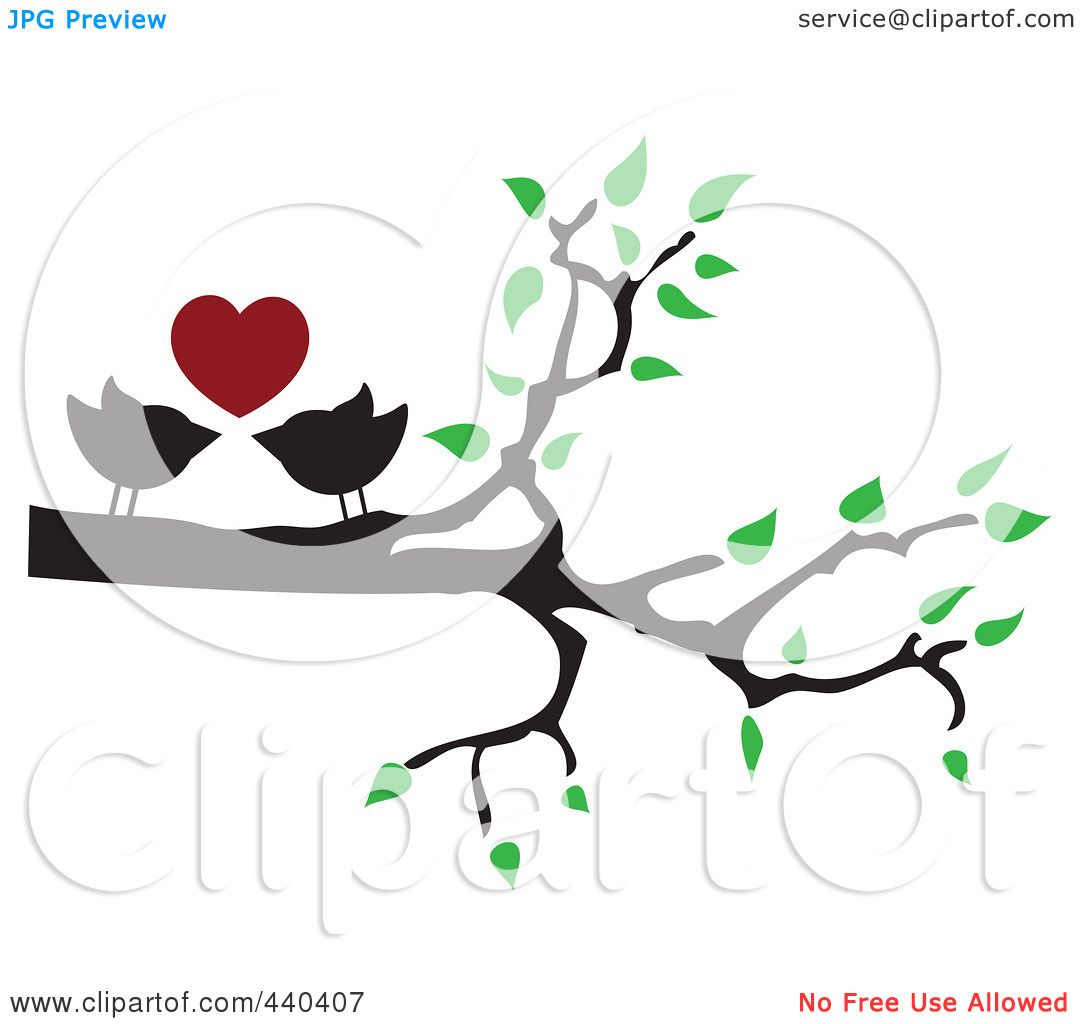 1080x1024 Royalty Free (RF) Clip Art Illustration of a Pair Of Love Birds