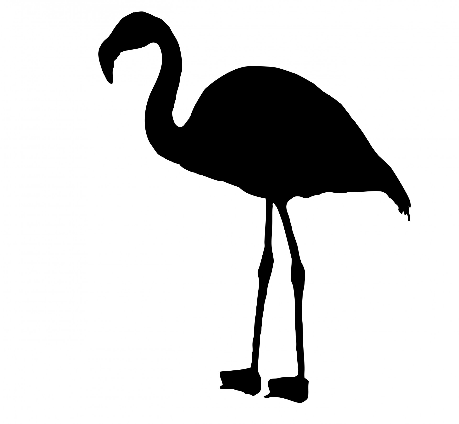 1919x1772 Flamingo Bird Silhouette Clipart Free Stock Photo
