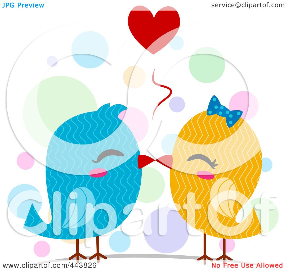 1080x1024 Royalty Free (Rf) Clip Art Illustration Of Love Birds In Wire