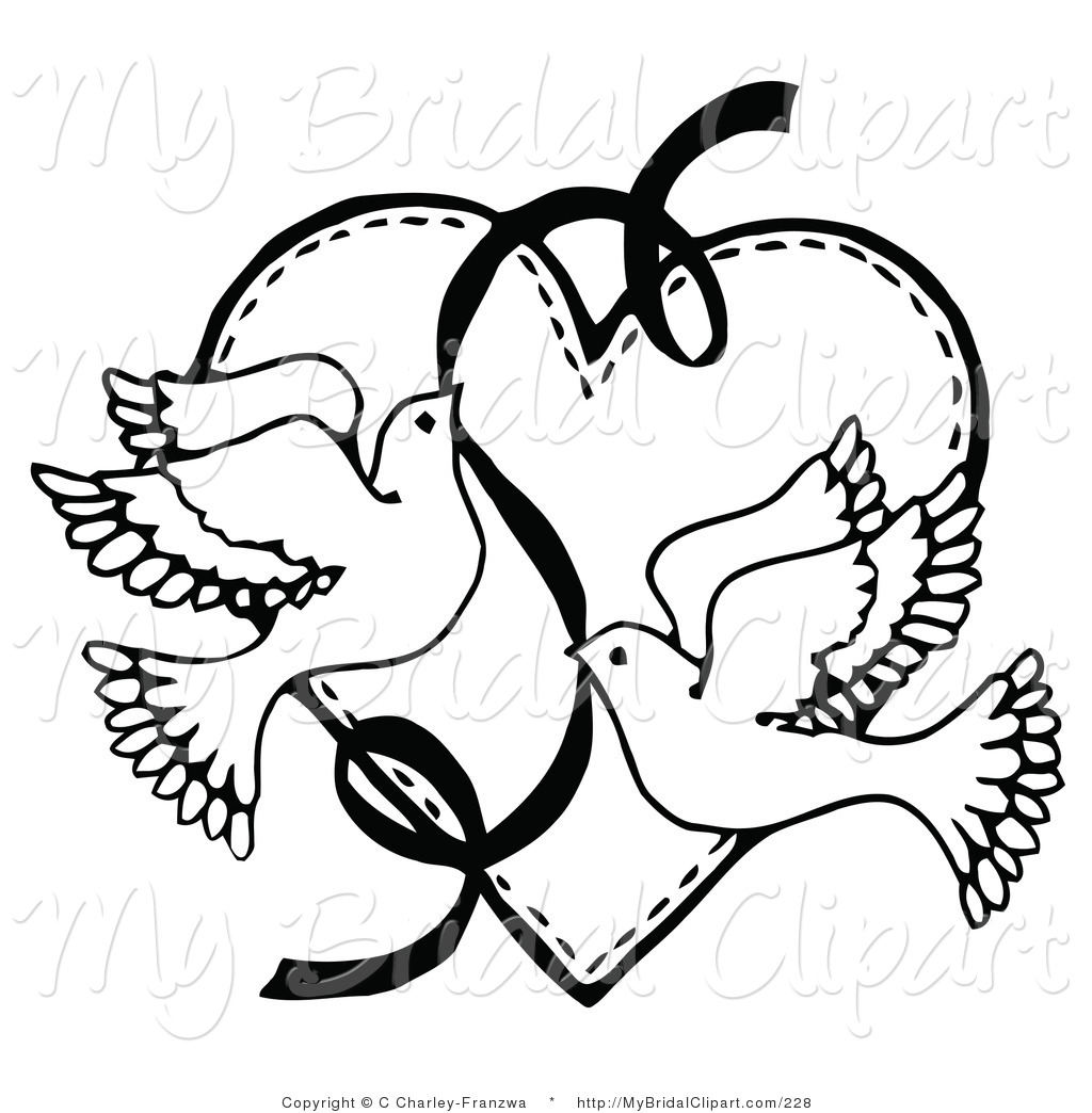 1024x1044 Bridal Clipart Of Coloring Page Of Two Flying Doves
