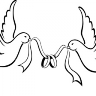 320x320 Lovebird Clipart Wedding Band