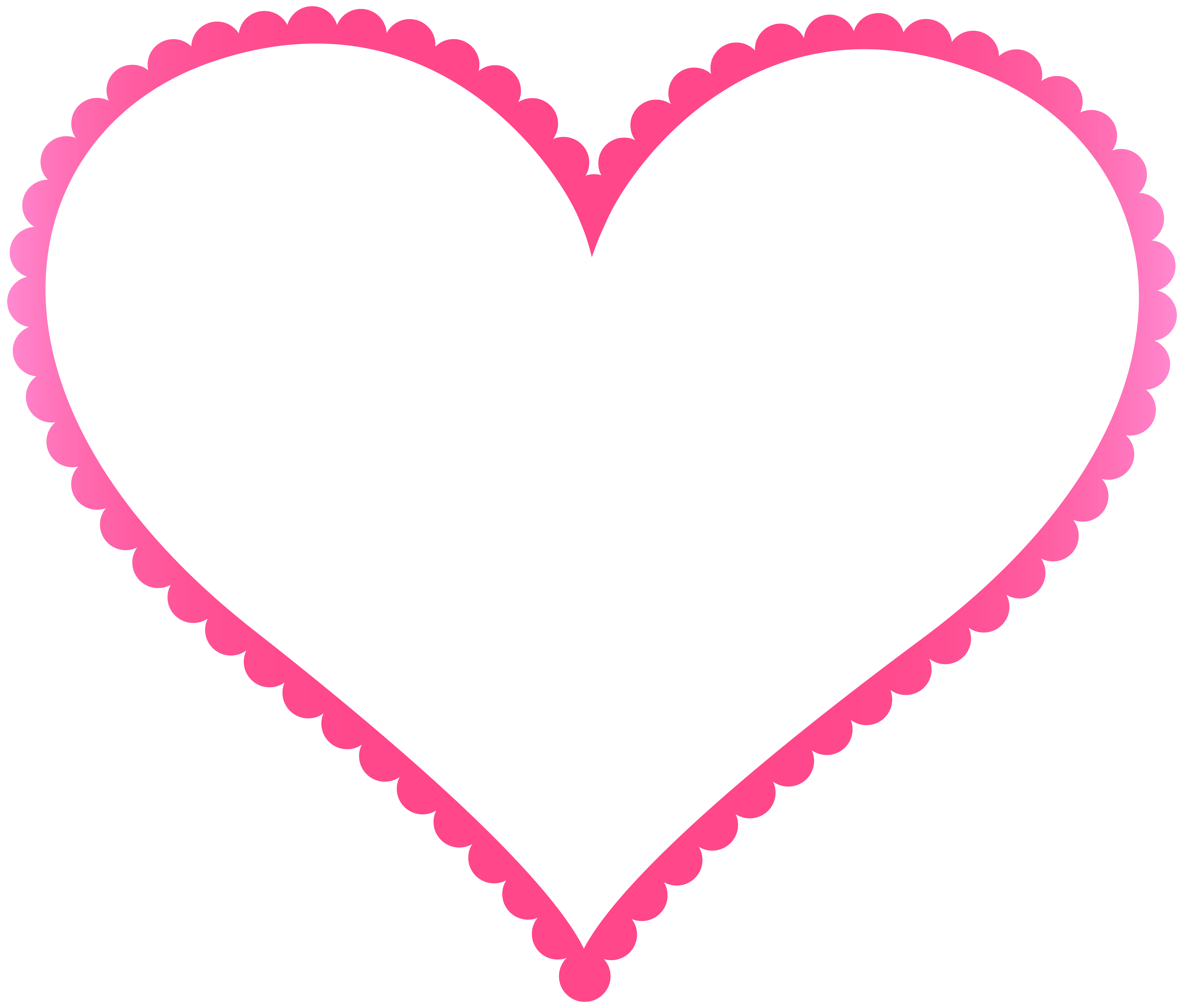 8000x6810 Pink Heart Border Frame Transparent PNG Clip Artu200b Gallery