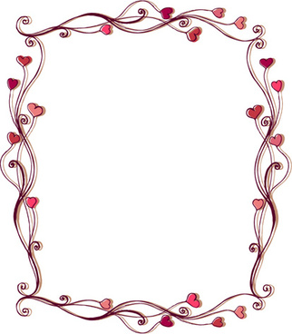 322x368 Vector Heart Frame Border Free Vector Download (11,779 Free Vector