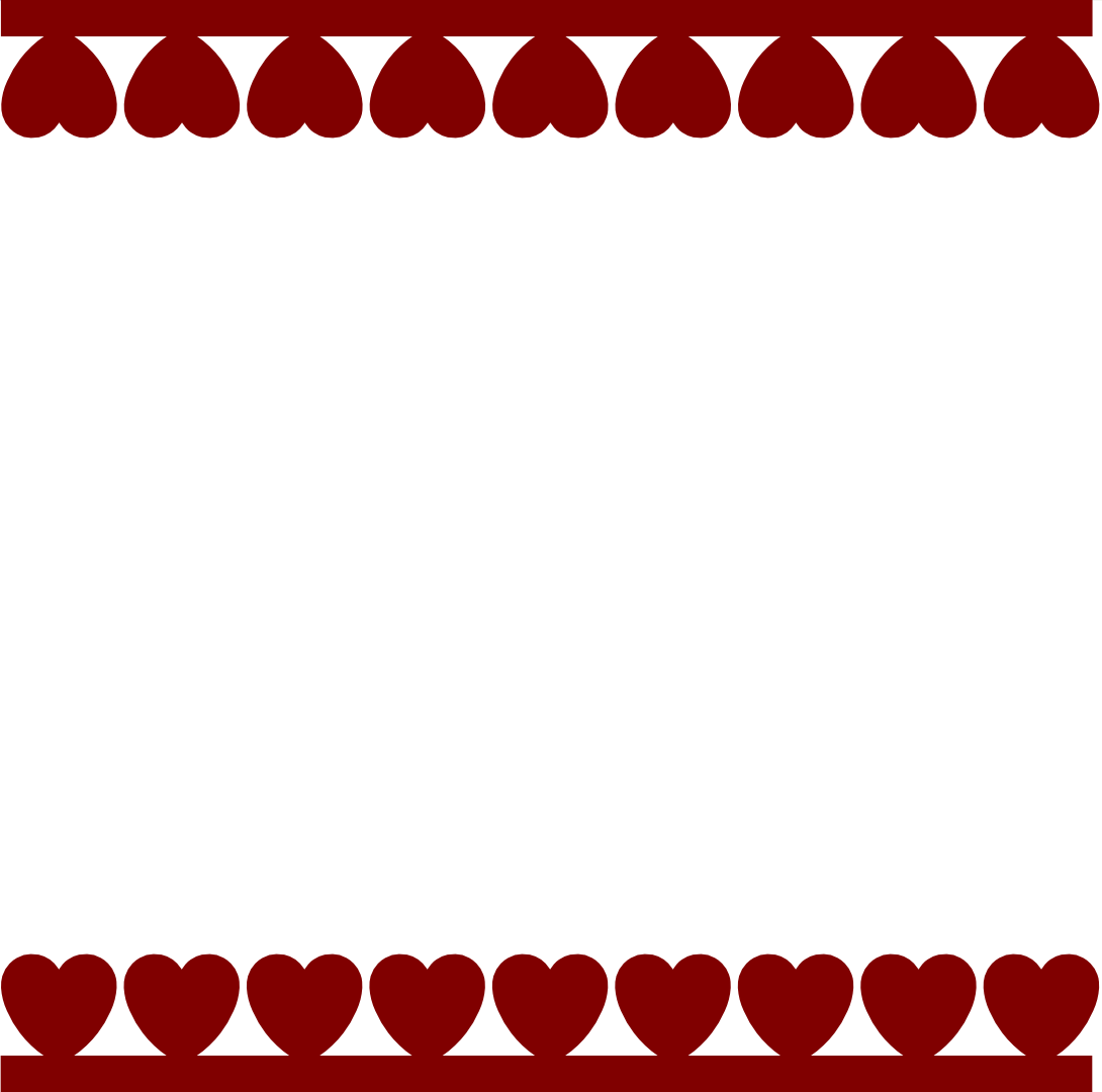 1090x1080 Hearts Border Svg Silhouettes, Filing And Svg File