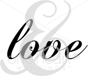 300x259 Love Calligraphy Clip Art Love Clipart