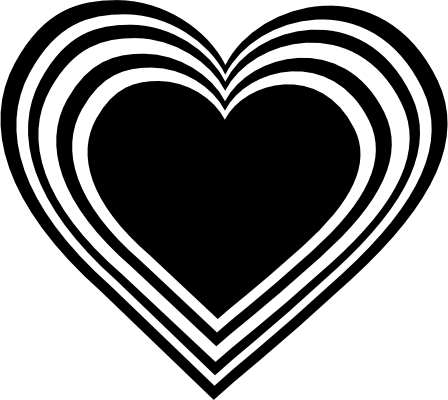 448x400 Love clipart black and white