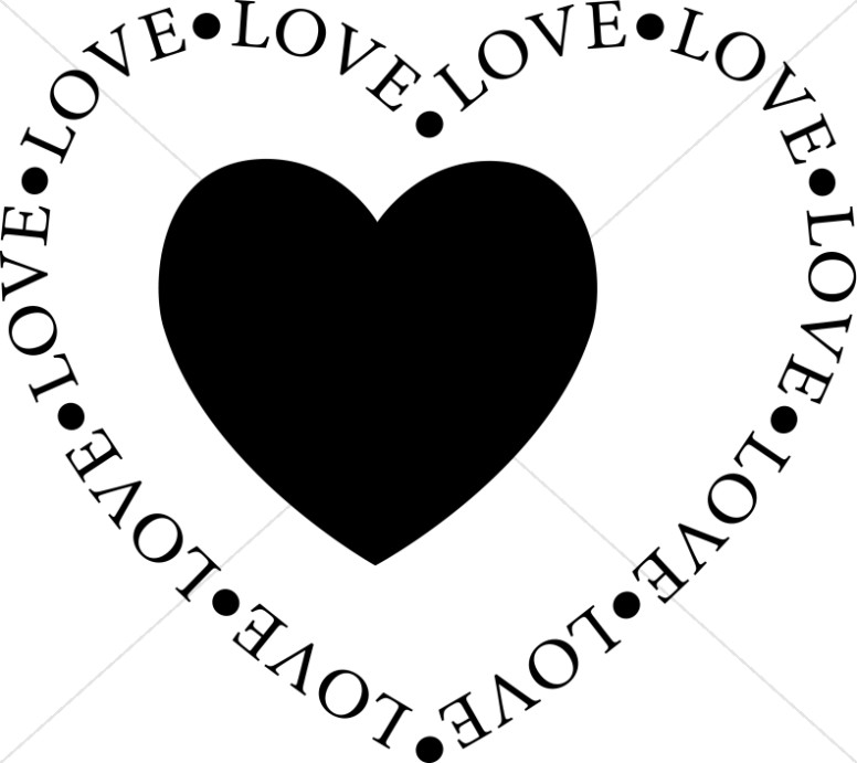 776x691 Black Love Heart Clipart (22+)