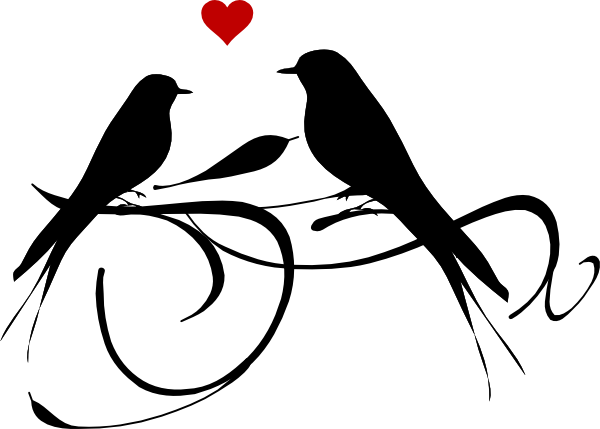 600x429 graphic of love clipart black white