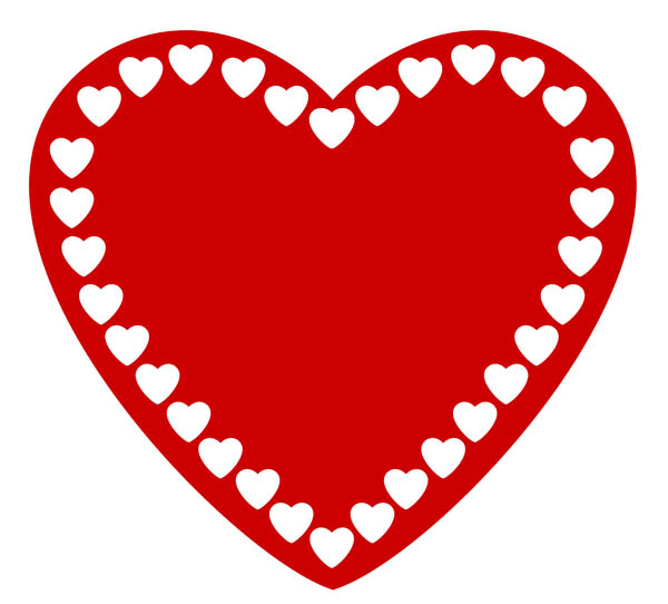 600x542 Love Heart Clipart