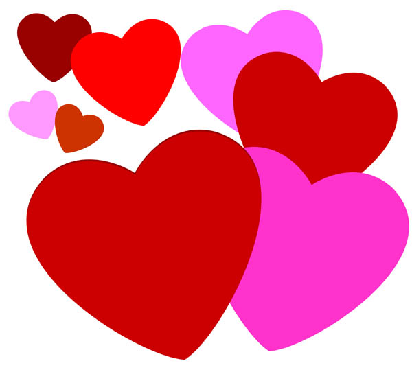 600x542 Love Hearts Clip Art