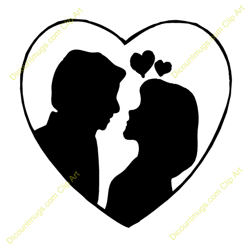 500x500 Couple Clipart Heart