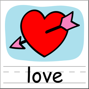 304x304 Clip Art Basic Words Love Color Labeled I Abcteach
