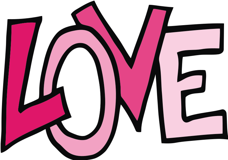 800x560 Free Love Text Clip Art