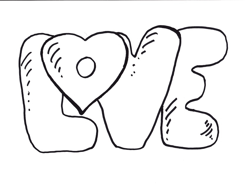 855x650 Love Coloring Pages To Print Printing